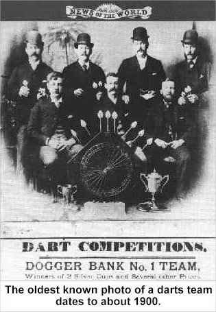 Oldest know photo of a darts team